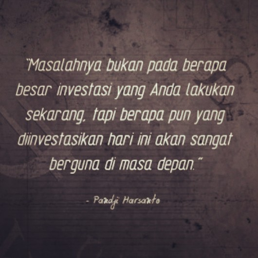 Quote Pandji Harsanto