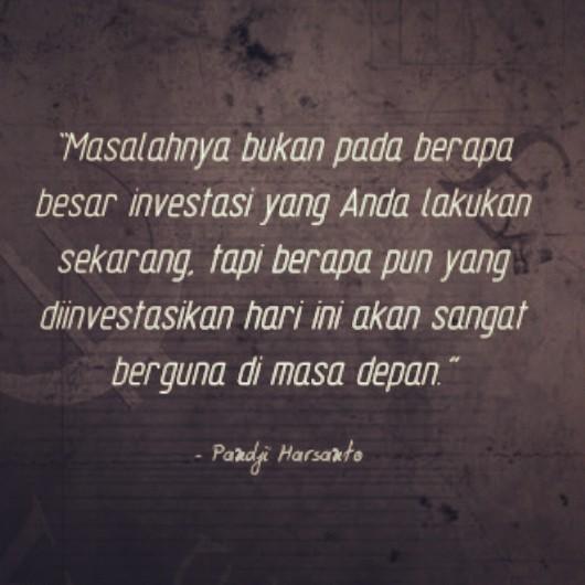 Quote Pandji Harsanto